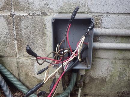 分岐防水BOXもPF管の接続